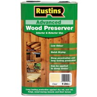 Rustins Advanced Wood Preserver Interior & Exterior Clear - 5 Litre