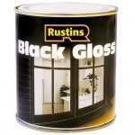 Rustins Black Gloss Paint Interior and Exterior - 1 Litre