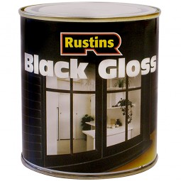 Rustins Black Gloss Paint Interior and Exterior