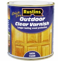 Rustins Quick Drying Outdoor Varnish Satin Clear - 500ml