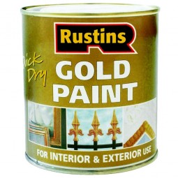 Rustins Quick Drying Gold Paint Wood and Metal