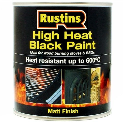 Rustins high heat resistant matt black paint 600 degrees c - What temperature can you paint outside ...