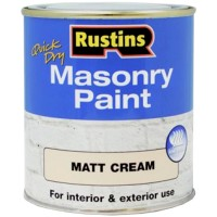 Rustins Quick Drying Masonry Paint Matt Cream - 500ml
