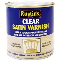 Rustins Polyurethane Varnish Clear Satin - 250ml