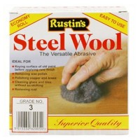 Rustins Steel Wire Wool Roll Extra Coarse Grade 3 - 150g
