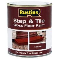 Rustins Step and Tile Red Gloss Paint - 250ml