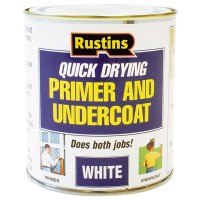 Rustins Quick Drying Wood Primer Undercoat White - 1 Litre