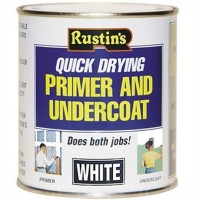 Rustins Quick Drying Wood Primer Undercoat White - 2.5 Litre