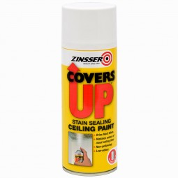 Zinsser Covers Up Stain Sealing Ceiling Paint - 400ml