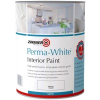 Zinsser Perma-White Interior Paint Satin - 1 Litre