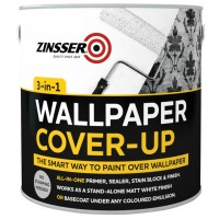 Zinsser Off-White Matt Wallpaper Cover-Up Paint - 2.5 Litre