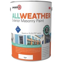 Zinsser All Weather Exterior Masonry Paint White - 5 Litre