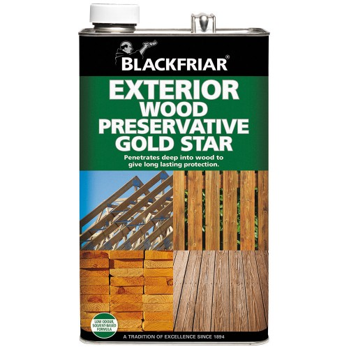 Blackfriar exterior wood preserver gold star dark brown - Cedar wood preservative exterior ...