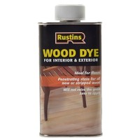 Rustins Wood Dye Ebony - 250ml
