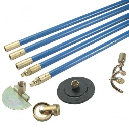 Bailey 1324 Lockfast Drain Rod Set with Plunger Scraper and Worm Screw