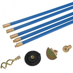 Bailey 1471 Universal Drain Rod Set with Plunger Scraper and Worm Screw