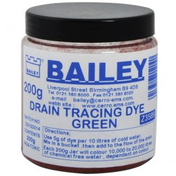 Bailey Drain Tracing Dye Green 3589