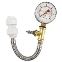 Dickie Dyer Dry Pipe Pressure Testing Gauge with Hose - 4 Bar