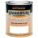 Rust-Oleum All Surface Brush Paint and Primer White Gloss - 750ml