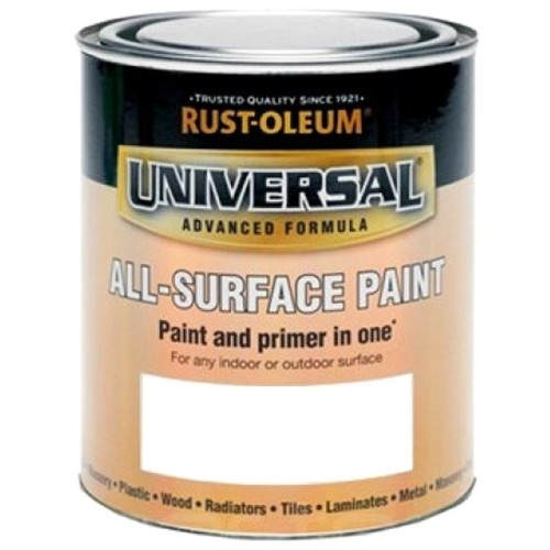 rust oleum all surface brush paint and primer white gloss