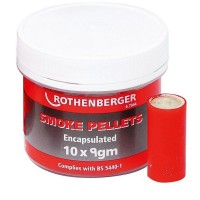 Rothenberger Smoke Testing Chimney Pellets Red - 10 Pack