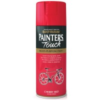 Rust-Oleum Painters Touch Cherry Red Gloss Spray Paint - 400ml