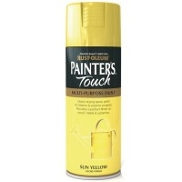 Rust-Oleum Painters Touch Sun Yellow Gloss Spray Paint - 400ml
