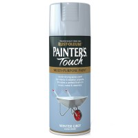 Rust-Oleum Painters Touch Winter Grey Gloss Spray Paint - 400ml