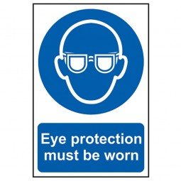Scan Eye Protection Must Be Worn Sign PVC 200mm x 300mm