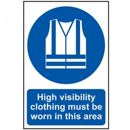 Scan High Visibility Jackets Must Be Worn In This Area Site Sign