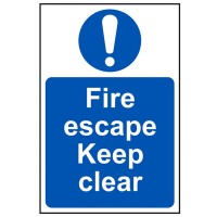 Scan Fire Escape Keep Clear Sign PVC 200mm x 300mm