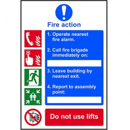 Scan Site Fire Action Procedure Sign 200mm x 300mm