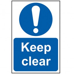 Scan Keep Clear Sign PVC 200mm x 300mm
