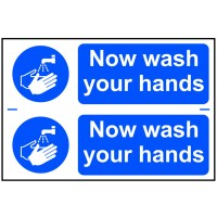Scan Now Wash Your Hands PVC 300mm x 200mm