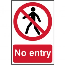 Scan No Entry Safety Sign PVC 200mm x 300mm