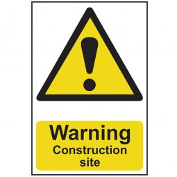 Scan Warning Construction Site Safety Sign 300mm x 200mm