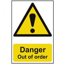 Scan Danger Out of Order Safety Sign 200mm x 300mm