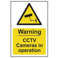 Scan Warning CCTV Cameras In Operation Site Sign PVC 200mm x 300mm