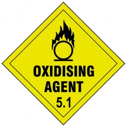 Scan Oxidising Agent 5.1 Sign 100mm x 100mm