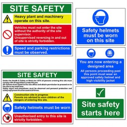 Scan Construction Site Safety Signs 5 Pack
