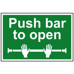 Scan Push Bar To Open Sign 300mm x 200mm