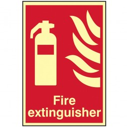 Scan Fire Extinguisher Photoluminescent Sign 200mm x 300mm