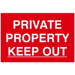 Scan Private Property Keep Out Safety Sign 300mm x 200mm
