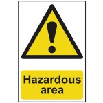 Scan Hazardous Area Safety Sign 400mm x 600mm