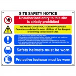 Scan Composite Site Safety Notice Board Sign 800mm x 600mm
