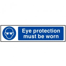 Scan Eye Protection Must Be Worn Safety Sign 200mm x 50mm
