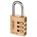 Abus 165/30 Brass Combination Padlock 30mm