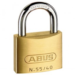 Abus 55/40 Brass Padlock 38mm Twin Pack