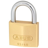 Abus 65/40 Brass Padlock 40mm Twin Pack