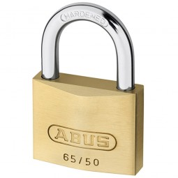 Abus 65/50 Brass Padlock 50mm Twin Pack